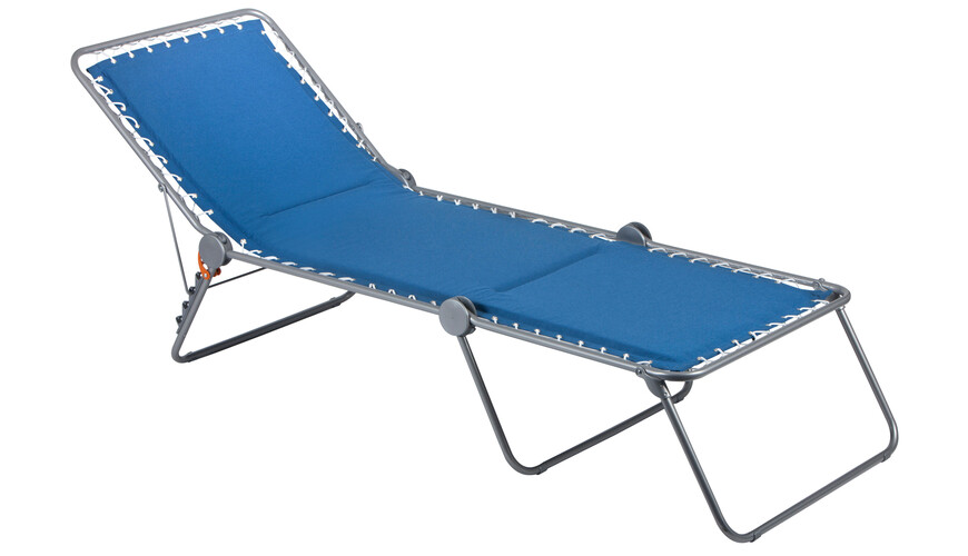 Lafuma Mobilier SIESTA L Camping lounger Padded Polycotton grijs/blauw